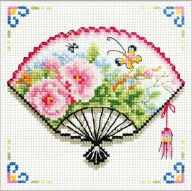 Rose Fan No Count Cross Stitch Kit By Riolis