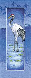 Crane 'Flamingo' Cross Stitch Kit By Heritage
