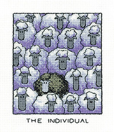 """The Individual"" Sheep Cross Stitch Kit By Heritage"