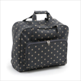 Matt PVC - Charcoal Polka Dot  Sewing Machine Bag By Hobby Gift