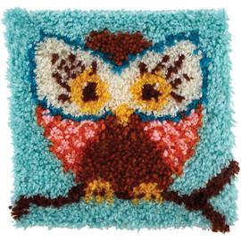 Hoot Hoot (Owl) Latch Hook Rug Kit From Wonderart