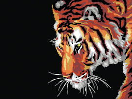 Tiger  Tapestry Canvas By Collection D'art
