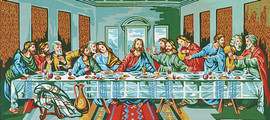 The Last Supper, Da Vinci  Tapestry Canvas By Collection D'art