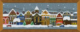 Christmas City Cross Stitch Kit By Riolis