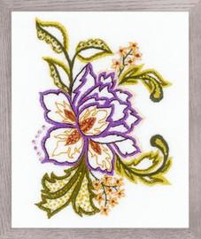 Flower Sketch Printed Embroidery Kit By Riolis