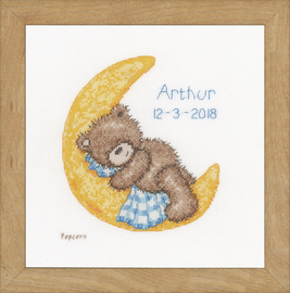 Counted Cross Stitch Kit: Popcorn: Bear Sleeping By Vervaco