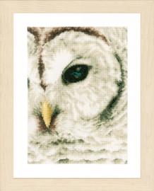 White Owl Cross stitch Kit by Lanarte