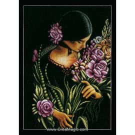 Women and Flowers Cross Stitch Kit by Lanarte
