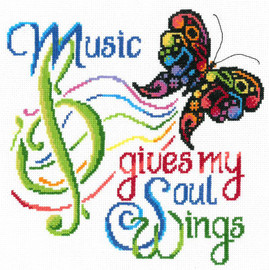 Music wings Cross Stitch Chart By Ursula Michael