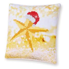 Christmas Star Pillow Craft Kit By Diamond Dotz