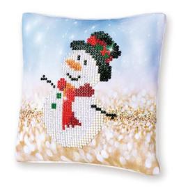Snowman Top Hat Pillow Craft Kit By Diamond Dotz