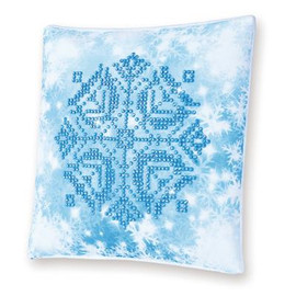 Snowflake Pillow Craft Kit By Diamond Dotz