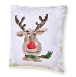 Christmas Reindeer Pillow Craft Kit By Diamond Dotz