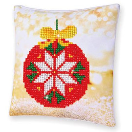 Red Bauble Pillow Craft Kit By Diamond Dotz