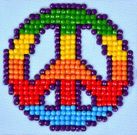 Peace Man Craft Kit By Diamond Dotz