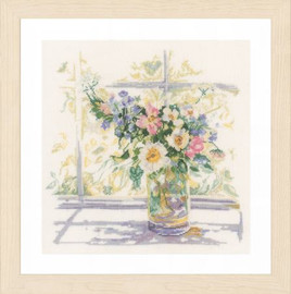 Bouquet of Flowers Cross Stitch Kit by Lanarte