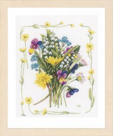 Bouquet of field flowers Cross Stitch Kit by Lanarte