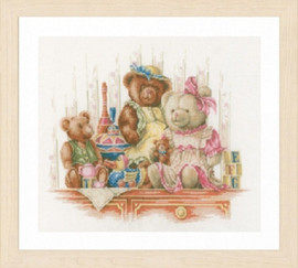 Bears and Toys Cross Stitch Kit by Lanarte