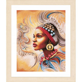 Mother Africa Cross Stitch Kit by Lanarte