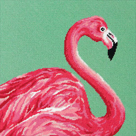 Pink Flamingo Needlepoint Kit by Dimensions