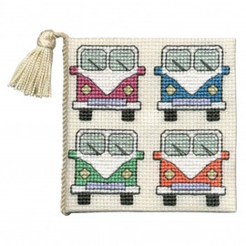 Camper Van Needle Case Cross Stitch Kit by Textile Heritage