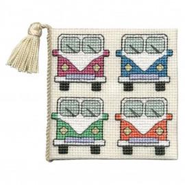 Camper Van Needle Case Cross Stitch Kit by Textile Heritage