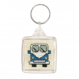 Camper Van Key Ring Cross Stitch kit by Textile Heritage