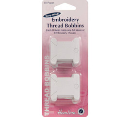 50 Embroidery Thread Bobbins  - paper