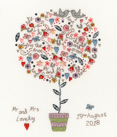 Love Vows Cross Stitch Kit By Bothy Threads