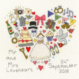 The Big Day! Cross Stitch Kit By Bothy Threads