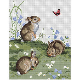 Bunnies and Butterflies Cross Stitch Kit By The Natural World