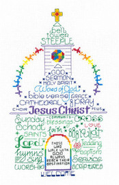 Lets Go to Church Cross stitch Chart