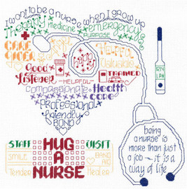 Lets Hug a Nurse Cross Stitch Chart