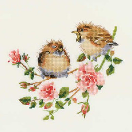 Rose Chick-Chat Cross Stitch Kit By Heritage