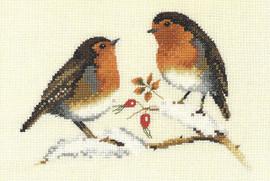 Winter Robins Cross Stitch Kit By Heritage