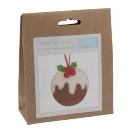 Felt Decoration Kit: Christmas Pudding