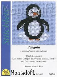 Penguin Cross Stitch Kit by Mouse Loft