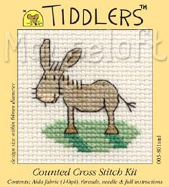 Donkey Cross Stitch Kit by Mouse Loft