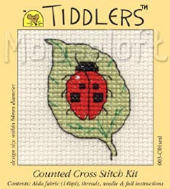 Ladybird on Leaf Cross Stitch Kit by Mouse Loft
