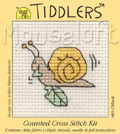 Snail Cross Stitch Kit by Mouse Loft