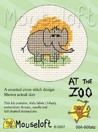 Elephant Cross Stitch Kit by Mouse Loft