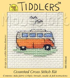 Orange Camper Van Cross Stitch Kit by Mouse Loft