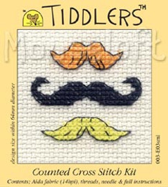 Moustaches Cross Stitch Kit by Mouse Loft