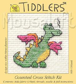 Green Dragon Cross Stitch Kit by Mouse Loft