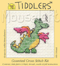 Green Dragon Cross Stitch Kit by Mouse Loft