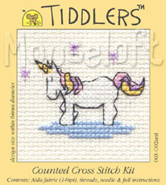 Little Unicorn Cross Stitch Kit by Mouse Loft
