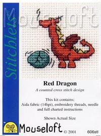 Red Dragon Cross Stitch Kit by Mouse Loft