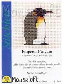 Emperor Penguin Cross Stitch Kit by Mouse Loft