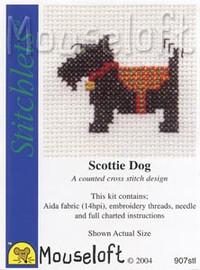 Scottie Dog Cross Stitch Kit by Mouse Loft