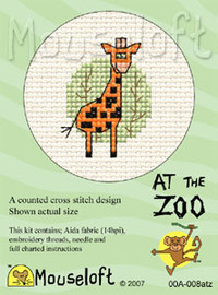 Giraffe Cross Stitch Kit by Mouse Loft